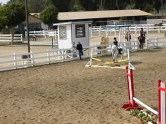 Arena jumping lesson